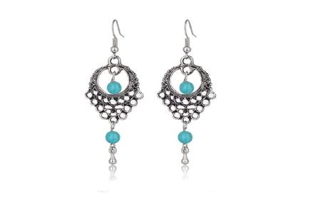 Blue Beads Dangle Earrings