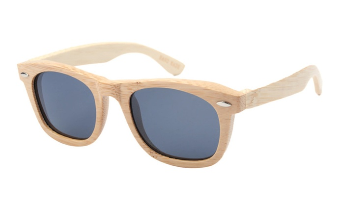 Women's Wood Frame Polarized Sunglasses