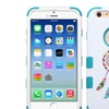 Insten Tuff Hard Hybrid Rubber Silicone Case For iPhone 6 6s Blue