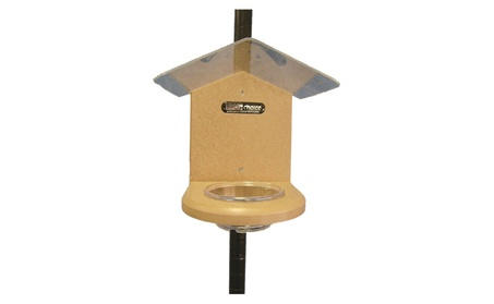 Birds Choice SNMW Recycled Pole-Mounted Mealworm Feeder (Goods For The Home Patio & Garden Bird Feeders & Food) photo