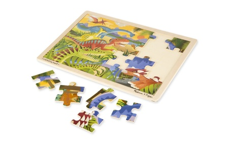 Melissa & Doug Dinosaurs Wooden Jigsaw Puzzle With Storage Tray (24 pc b7757ea1-5944-4d53-926d-788228151642