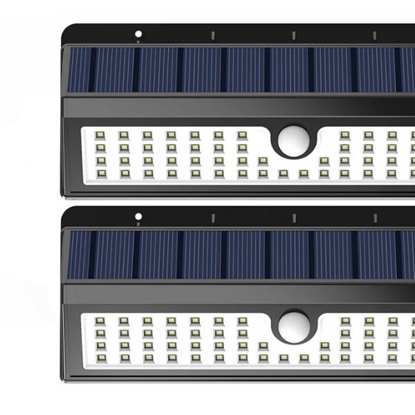 best service 3b1d6 6ff68 Lemontec Solar Lights, 62 LED Wall Solar Light Outdoor