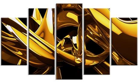 Red VS Blue Abstract Metal Wall Art 60x32 5 Panels ece4581b-8ae3-4edb-a388-4c637ca06a24