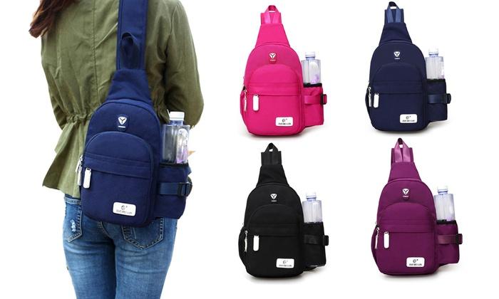 d4d2a68011 Sling Backpack Shoulder Crossbody Bag Water Resistant Chest Rucksack