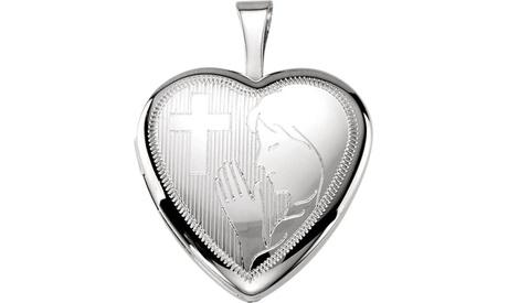 Sterling Silver Prayer Locket 05bf1268-6cd8-4661-929b-a39392e39d80