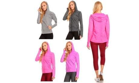 Seamless Active Living Jacket with Hoodie f7eb4ff0-293a-4eea-8edb-2a4ae3c15594