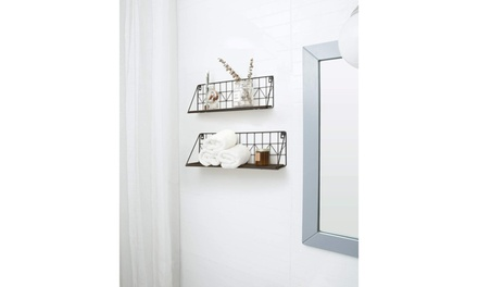 2/3 PCS Floating Shelves Wall Mounted, Wood Wall Shelves for Bedroom, Bathroom