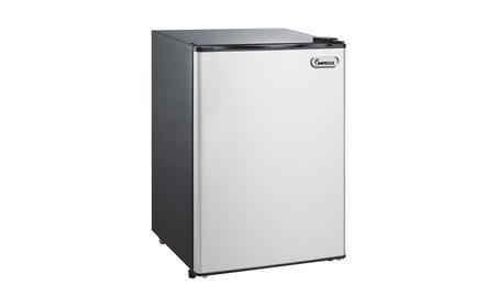New 2.6 cu. Refrigerator compact single titanium impecca RC-1265SL 3153f369-5eaa-4fda-aa32-de8a8260d918