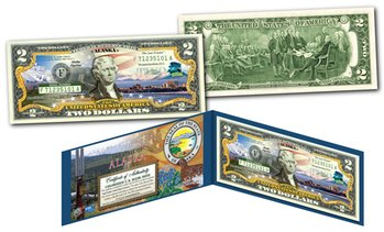 Official Genuine US Two-Dollar Bills Honoring America's 50 States