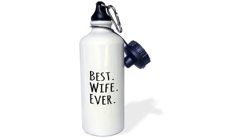 Water Bottle Best Wife Ever Fun romantic love gifts Anniversary, Valentines Day