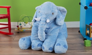 "19"" Plush Stuffed Pillow Elephant"