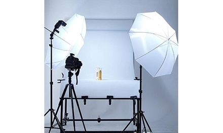45W 2 Lights Video Studio Umbrella Reflector Photography Continuous Lighting Kit