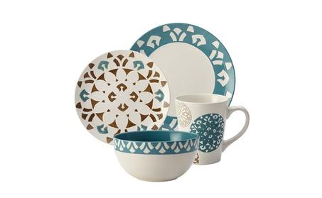 Rachael Ray Pendulum 16-Piece Stoneware Dinnerware Set 70919818-0f5e-426d-a5da-5bd3f8be5f11