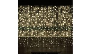 3Mx3M 304LED Festival Decorative Waterfall Curtain String Lights