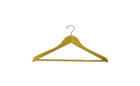 Proman Products Suit Hanger With Wooden Bar Natural Lacquer a0f60fe8-8c72-4c15-afee-e57b282fcdce