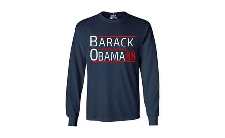Barack Obama '08 Long Sleeve Shirt President Shirts f4fcaf85-c208-452a-aca7-84fc7bfb2290
