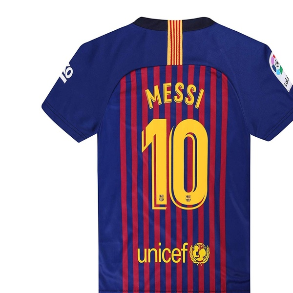 outlet store 417ca f4486 2018-19 Season Home Barcelona Messi #10 Mens Soccer Jersey Color Red/Blue