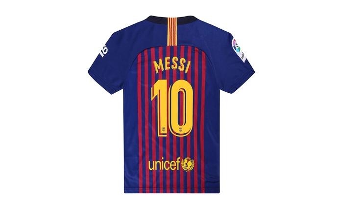 outlet store cb8f6 d5a96 2018-19 Season Home Barcelona Messi #10 Mens Soccer Jersey Color Red/Blue