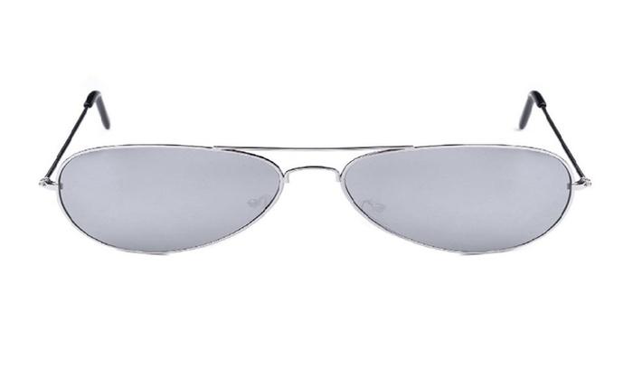 Aviator Style Sunglasses Metal Frame Colored Lens UV Protection Unisex