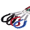 Braided hand made dog collar with chain & matching leash set
