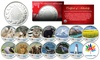 CANADA 150 Anniversary RCM Colorized Medallions  Set of 14 Canada Wildlife