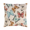 "Flurry of Colorful Butterfly Decorative Toss Throw Pillow 17"" square"