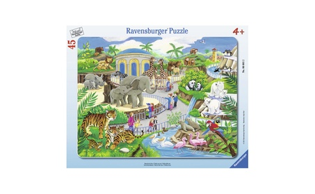 Ravensburger Frame Puzzles - Visit to the Zoo 06661 a7b28cf1-531e-4134-8ed8-24974b20ac48