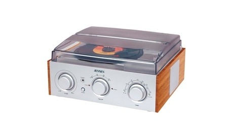 Jensen Stereo Turntable With AM/FM Receiver and 2 Built-in Speakers 04e62f0f-eda8-4e6d-9b58-768785fcccb2