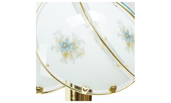 Rise above better homes and gardens floral glass shade touch lamp