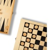 2-in-1 Travel Game Set - Checkers & Backgammon Board Games