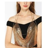 SHINA Womens Sexy Metal Vest Sequined Vest Backless Bra Chain
