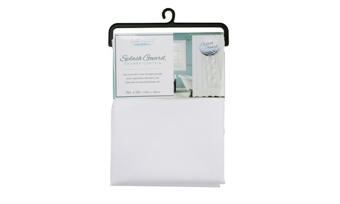 Shower Curtain With Splash Guard