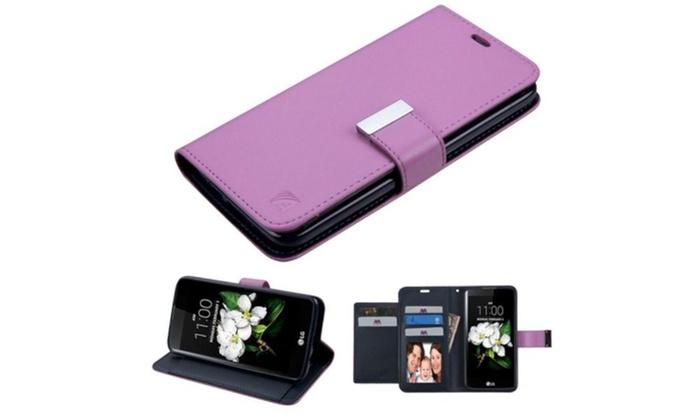 Groupon Goods: For LG Escape 3 K373 K7 Leather Premium Wallet Case Flip Phone Accessory