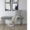 Inspired Home Gene Velvet Button-Tufted Square Leg Bench