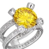 Jonquil CZ Birthstone Ring - Prong Set - White Gold Plated