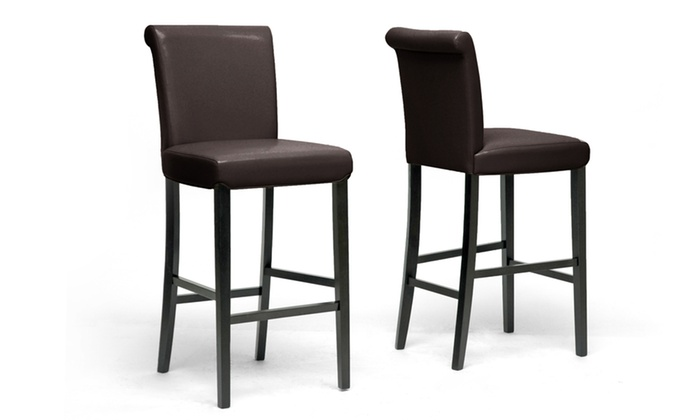 Bianca Rolled Back Bar Stool Set 2 Piece Groupon