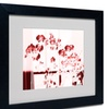 Miguel Paredes 'Red Orchids' Matted Black Framed Art