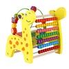 Giraffe Abacus Calculate Bead Frame Wire Maze Kids Wooden Math Toy