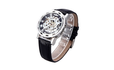 Luxury Hand Winding Mechanical Skeleton Design Watch