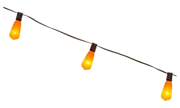 sylvania v33135 88 halloween edison style glass bulb 10 light orange