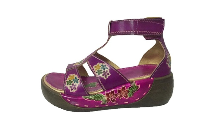 Women's Flower Wedges Platform Sandals Shoes