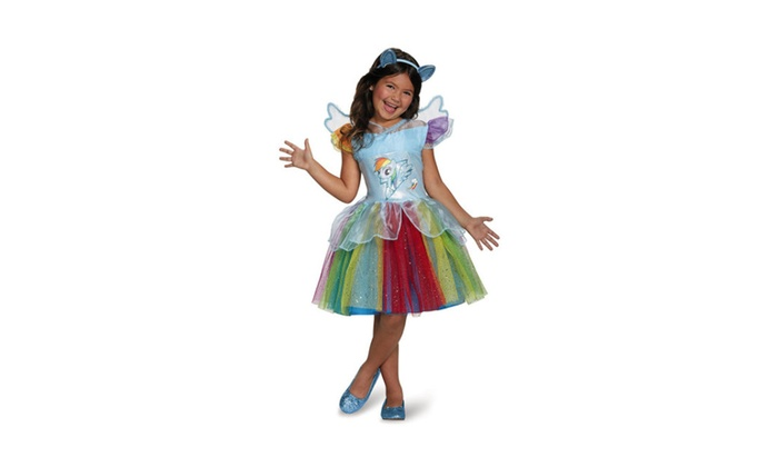 360f3c0050ea8 Disguise Rainbow Dash Tutu Deluxe My Little Pony Costume | Groupon