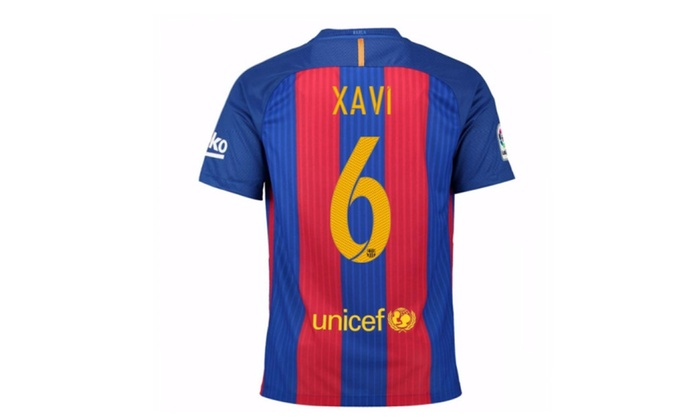 timeless design 947eb 8c33c Mens Fc Barcelona Stadium Jersey-Sport Royal Xavi No.6