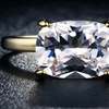 18K Gold Plated 5 Carat Cubic Zirconia Ring for Wedding