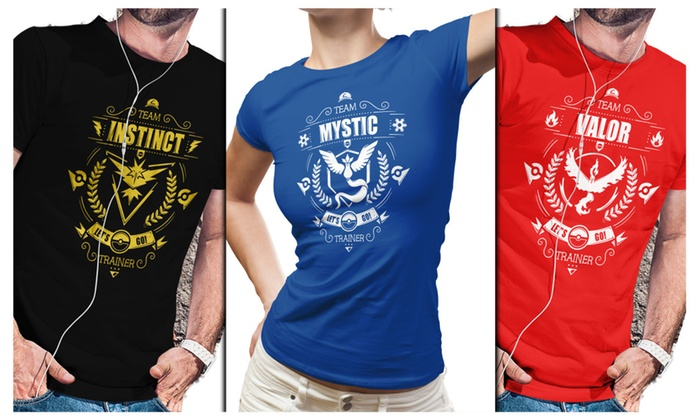 Pokemon Go Shirts - Team Valor, Team Mystic, Team Instinct - Funny Tee