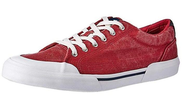 more photos 53f0e 2edc1 Sperry Mens Striper II Retro Sneaker Brick RED 10.5 M