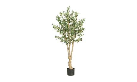 Nearly Natural 5' Olive Silk Tree Green 13c5aa81-f407-436e-adb5-208b6a3e99b9