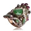 Vintage Big Resin Engagement Women's Ring
