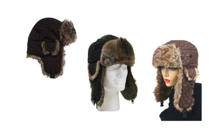Unisex Fashion Faux Fur Cold Weather Trapper Hat
