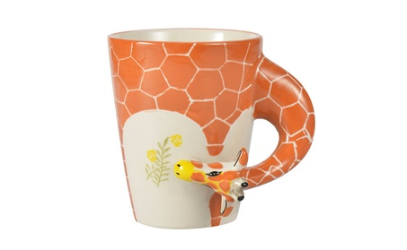 Hand-Painted Ceramic Cups, Giraffe Style 91170cff-c7e3-44fe-be7a-1388a6690dcc